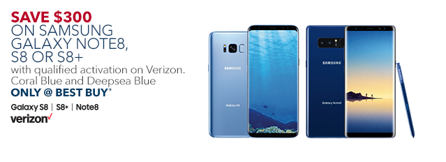 save 300 on samsung galaxy note8 s8 or s8 with qualified activation on verizon